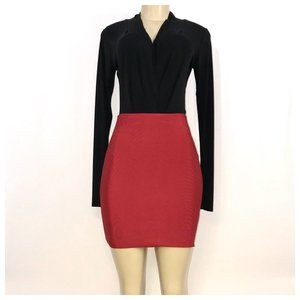 Wow Couture Red Mini Skirt Jrs Large